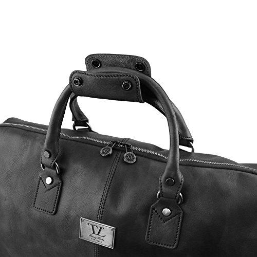 Tuscany Leather - Antigua - Sac de voyage/Housse de transport vêtements en cuir - Marron foncé