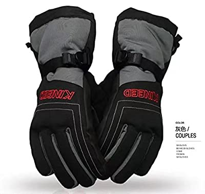 Tagvo Winter Gloves Lined in Thick Fleece Good Warmth, Built-in Extra Waterproof Layer Ensuring Hands Dry Even Soak in Water, Windproof Soft Comfortable Touch Snowboard Ski Gloves for Men Women Youth