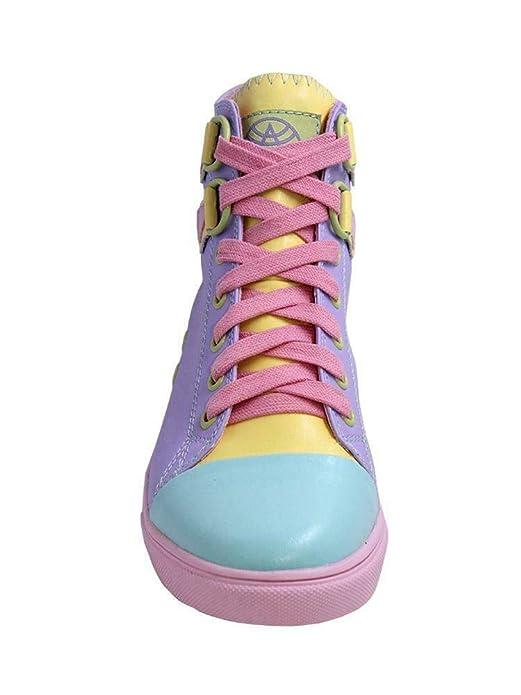 Amazon.com: Chelsea Pastel Sneaker High Top Punk Rock, 9 M ...