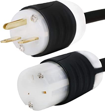 15A//250V NEMA 6-15 Extension Power Cord 14 AWG Build Iron Box Part # IBX-6150-25 25 Foot