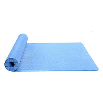 Nihewoo Thick Yoga Mat for Women Men Non Slip Fitness Exercise Mat Yoga Pilates Workout Gym Fitness Pad (183cm x 81cm, Blue): Clothing
