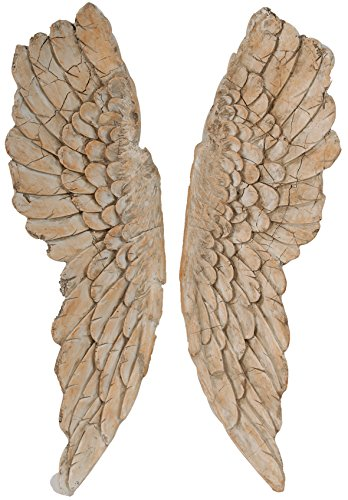 A&B Home Hipster Wings Wall Art, 11.5 X 3 X 41-Inch, Set of 2