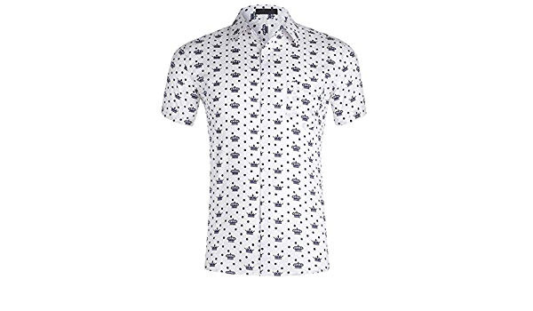 TOSKIP - Camisa hawaiana para hombre de algodón y poliéster ...