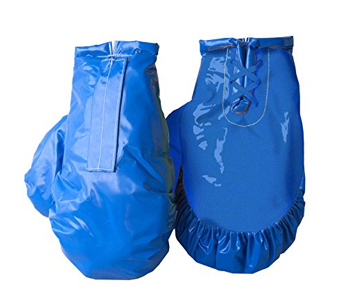 Giant Boxing Gloves for Bounce House Inflatables, Commercial Quality Low Density Foam and Double Stitched Vinyl, Replacement for Interactive Inflated Boxing Ring (Solid Blue Pair)