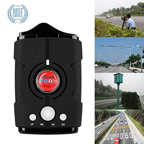 (Radar Detector V8, Voice Prompt Speed, City/Highway Mode Radar Detector for Cars (FCC Certification) (Black-1) (Black-1))