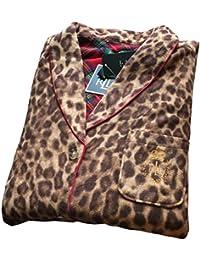 Lauren Ralph Lauren 2-PC Travel Cruise Leopard Sleepwear Pajama Set In a Bag Large
