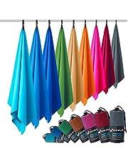 Ręczniki z mikrofibry we wszystkich rozmiarach / 12 kolorów - ultra lekki, kompaktowe i szybkoschnące - ręczniki z mikrofibry - idealne ręczniki sportowe, plażowe i podróżne