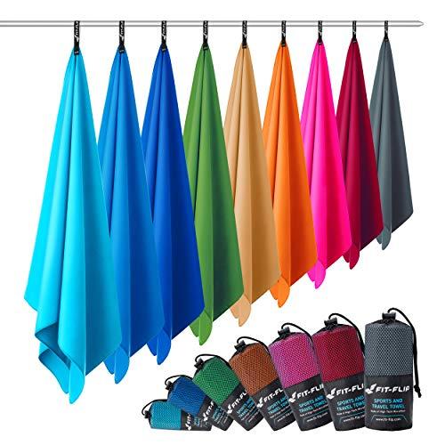 Microvezel handdoeken in ALLE afmetingen/12 kleuren – ultralicht, compact, & sneldrogend – Microvezel handdoek – de…