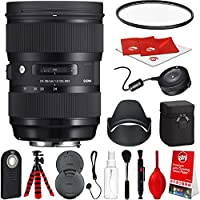 Sigma 24-35mm F2 ART DG HSM Lens for Canon DSLR Cameras w/ USB Dock Global Vision Bundle