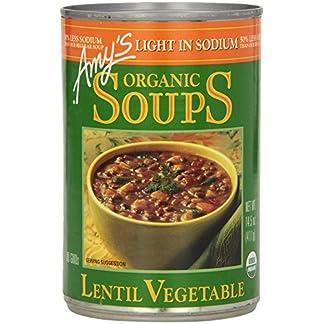 Lentil Vegetable Soup, Light Sodium, by Amy's Kitchen, 14.5 oz