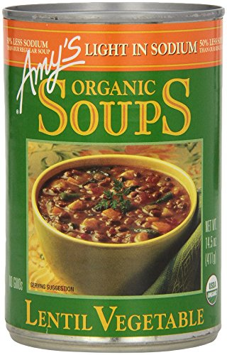 Lentil Vegetable Soup, Light Sodium, by Amy's Kitchen, 14.5 oz