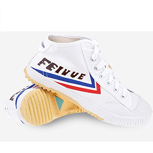 top one Feiyue Kungfu Martial Arts Taichi Trainer high top Shoes - For Men and Women (white, 44)