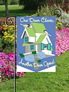 Open Doors Applique Mini Flag