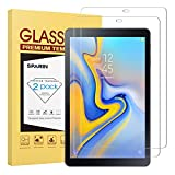 [2 Pack ] SPARIN Galaxy Tab A 10.5 Screen Protector [Tempered Glass] [Anti-Scratch] Compatible with Samsung Galaxy Tab A 10.5 inch 2018 Released (SM-T590, SM-T595,SM-T597)