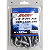 "SeaSense 5/16"" x 6' Hot Dipped Galvanized Anchor Chain"