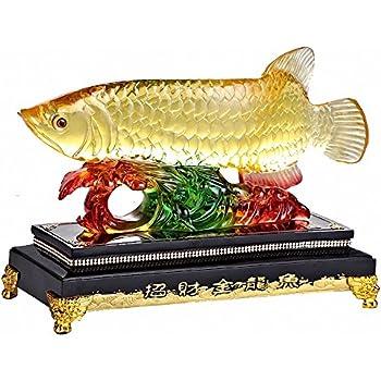 Amazon Com Large Size Feng Shui Wealth Arowana Golden