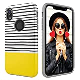 Case iPhone XR,Digital Hutty Dual Layer Shockproof Heavy Duty Protective Cover iPhone XR 6.1 Inch 2018 Release Yellow