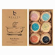 Bath Bombs Set; Organic and Natural Large and Luxurious Vegan Fizzies, Lush Fragrant Essential Oils, Surprise for Men, Women and Kids; Best Relaxing Epsom Salt Luxury Spa Soak (6 Pack Kit)