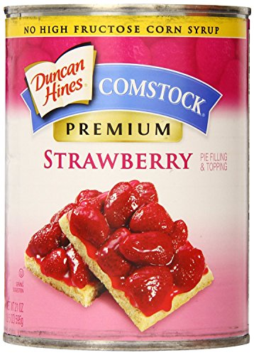 Comstock Premium Pie Filling & Topping, Strawberry, 21 Ounce