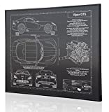 Dodge Viper SRT GTS Blueprint Artwork-Laser Marked & Personalized-The Perfect Dodge Gifts