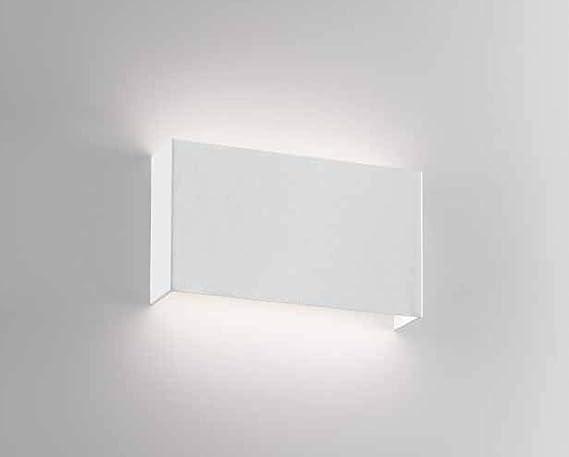 Isyluce applique lampada da parete per interni metallo bianco led