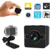 YCTONG Spy Camera Mini Hidden Camera Waterproof Portable Micro Home Security Cameras HD 1080P Surveillance Camcorder Motion Detection Video Recorder Night Vision Tiny Nanny Cam for House Office Car