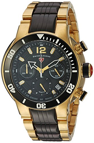 Swiss Legend Men's 'Sharkarma' Quartz Stainless Steel Casual Watch, Color:Two Tone (Model: 14083SM-YG-11-BB)