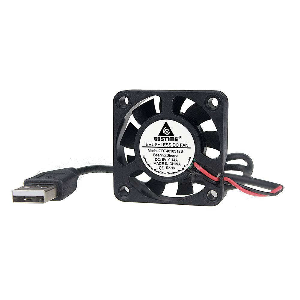 Aquarium GDSTME 40mm USB Fan for VR Gear Roku Router Helmet