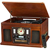 Innovative Technology Victrola Nostalgic Aviator Wood 8-in-1 Bluetooth Turntable (Mahogany)
