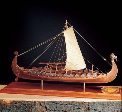 Amati Import Wooden Sailing Ship Model AM1406-01 Viking Ship