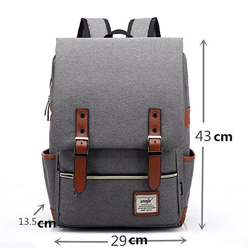 TOMATO-smile - Bolso mochila  de Lona para mujer beige Diseño 4 borgoña
