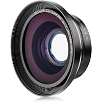 Kenuo 37mm 0.39X Full HD Wide Angle Macro Lens with 37mm to 30mm Lens Adapter for Digital Video Camera Camcorder