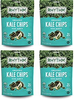 4-Pack Rhythm Superfoods Kool Ranch Kale Chips, 2 Ounce