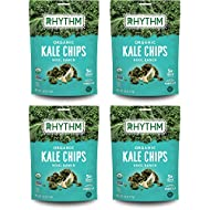 Rhythm Superfoods Kale Chips, Kool Ranch, Organic and Non-GMO, 2 Ounce (Pack of 4), Vegan/Gluten-Free Superfood Snacks