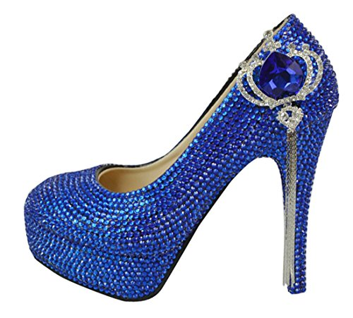 TDA Women's Fashion Tassel Crown Tassel Fashion Wedding Party Stiletto Pumps B01MDIZF6H Shoes 144317