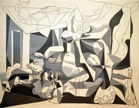 [Oil Painting 'Pablo Picasso-The Charnel House,1945' Printing On High Quality Polyster Canvas , 12x15 Inch / 30x39 Cm ,the Best Home Office Decor And Home Gallery Art And Gifts Is This Vivid Art Decorative Prints On] (Pictures Of Jazz Dance Costumes)