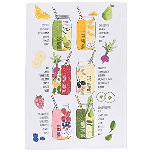 Now Designs Tea Towel, Smoothie Bar Print