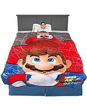 "Franco Kids Bedding Ultra Soft Plush Micro Raschel Blanket, Twin/Full Size 62"" x 90"", Super Mario"