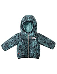 SNOW DREAMS Infant Baby Boys Car Print Hood Active Quilted Puffer Jackets