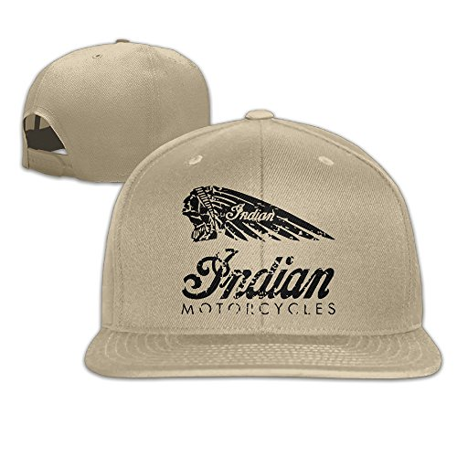 Indian Chief Motorcycles Flat Brim Baseball Cap Natural (Indian Chief Headdress For Sale)
