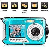 Waterproof Digital Camera 24 MP Underwater Camera Full HD 1080P Video Recorder Camcorder Selfie Dual Screen Shoot Waterproof Camera for Snorkelling