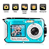 Waterproof Digital Camera 24 MP Underwater Camera Full HD 1080P Video Recorder Camcorder Selfie Dual Screen Shoot Waterproof Camera for Snorkelling