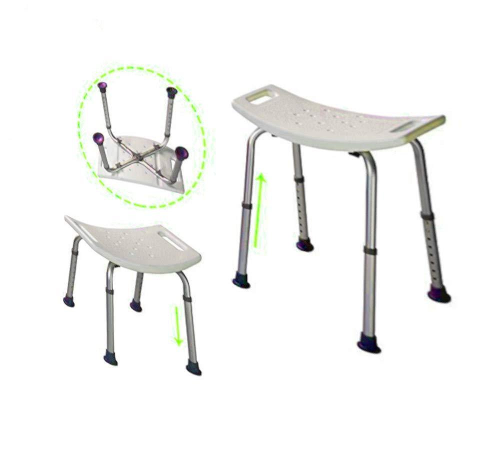 Bariatric Bath Bench Seat Bathroom Tub Chair Handicap Aid Portable Small Stool Adult Size Adjustable Back Helper & eBook by AllTim3Shopping.