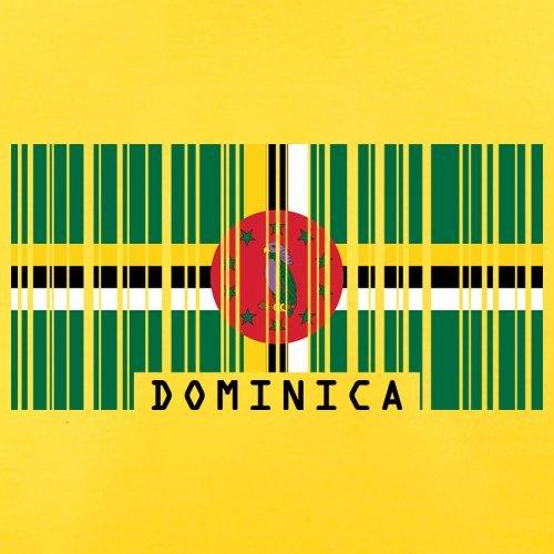 Dominica Barcode Flagge - Herren T-Shirt - Gelb - XXL