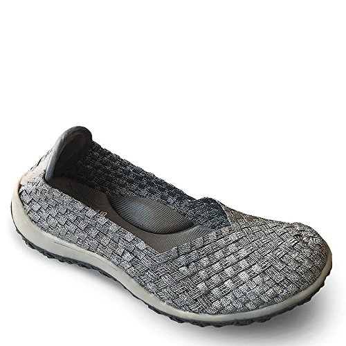 Pewter Alexis Flats Spice Gray Comfort Bottom Zee OIqdw7d
