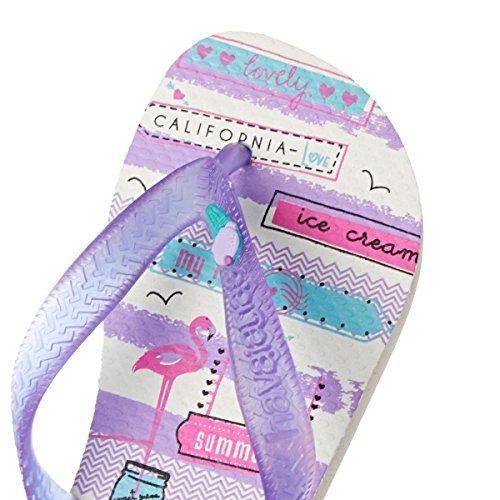 Infradito Havaianas purple Ragazza Fantasy White Kids 8OqEZ