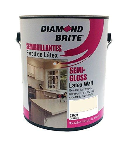Diamond Brite Paint 21600 1-Gallon Semi Gloss Latex Paint Off White