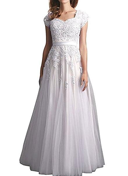 8ec91362840 Firose Women s Short Satin Homecoming Dress Cap Sleeves A Line Prom Dresses  White US2