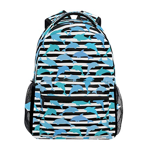 Boys Miami Dolphins Mighty Trekking Backpack Fashion Backpack Oversized Backpack Men and Women Durable Travel Computer Backpack 17 Inch Notebook Waterproof Large Business Bag
