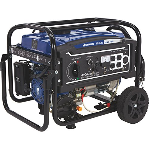 Powerhorse parallel Fuel Generator by using Electric Start — 4000 Surge Watts, 3100 Rated Watts, EPA Compliant For Cheap